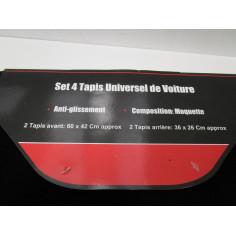SET DE 4 TAPIS VOITURE UNIVERSEL 60X42 ET 36X26 CM