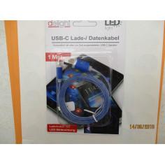 CABLE DE TELEPHONE USB-C COULEUR A LED
