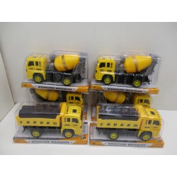 6 CAMIONS DE CHANTIER A FRICTION 24X8.5X12 A 2.50€