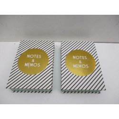 2 BOITES DE BLOC NOTES 14X10 CM